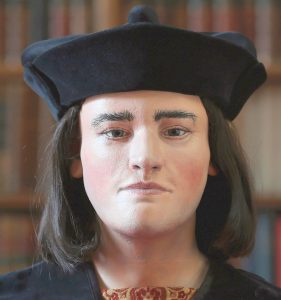 Photo of a facial reconstruction of King Richard III