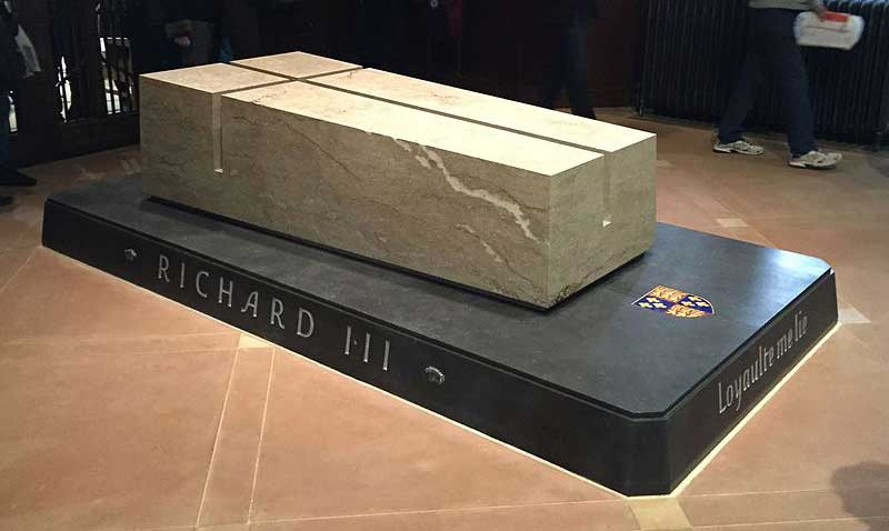 Richard III reburried at Leicester Cathedral, Picture by Isananni Wikipedia